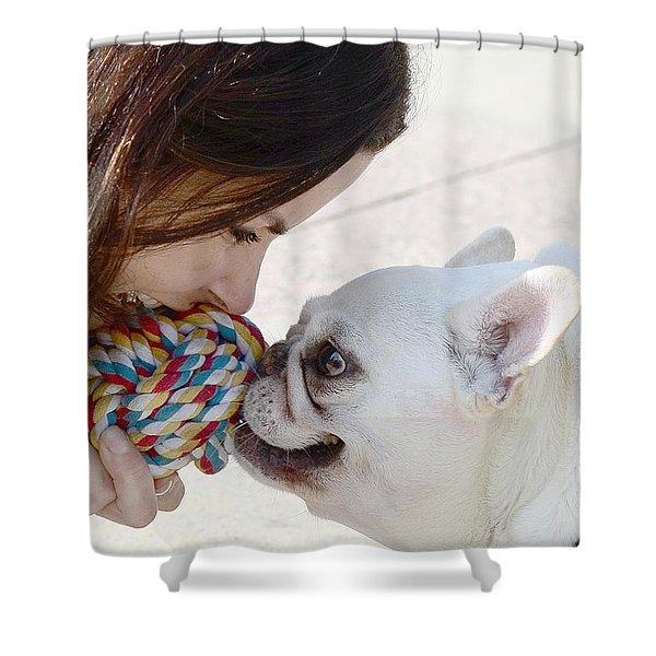 Yummmm Shower Curtain by Lisa  Phillips