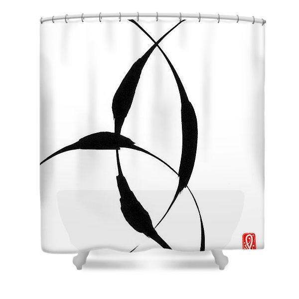 Zen Circles 5 Shower Curtain by Hakon Soreide