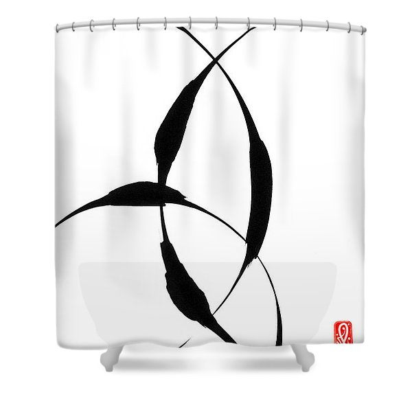 Zen Circles 5 Shower Curtain by Hakon Soreide