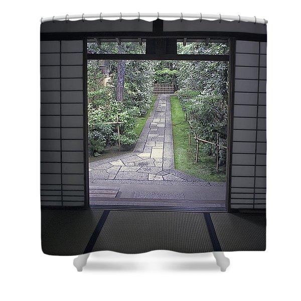 ZEN TEA HOUSE DREAM Shower Curtain by Daniel Hagerman