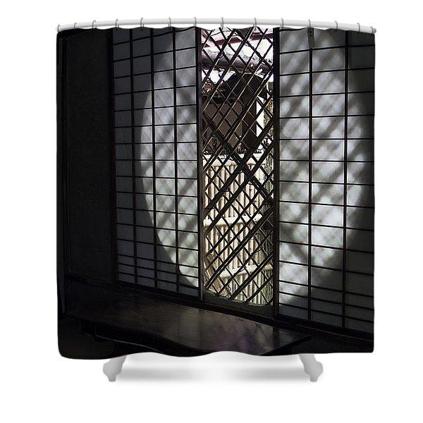 ZEN TEMPLE WINDOW - KYOTO Shower Curtain by Daniel Hagerman