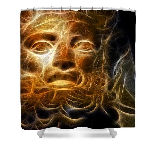 Zeus Shower Curtain by Taylan Soyturk