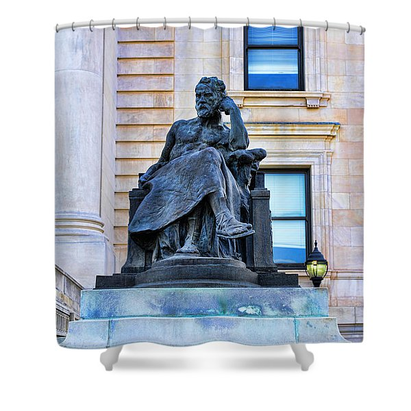 Zeus The King Shower Curtain by Paul Ward