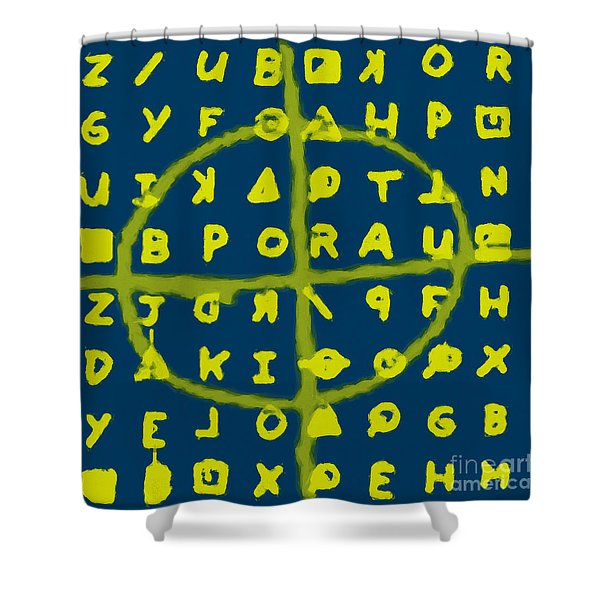 Zodiac Killer Code and SIgn 20130213p68 Shower Curtain by Wingsdomain Art and Photography