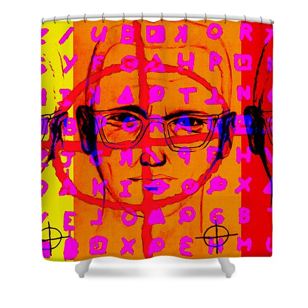 Zodiac Killer Three With Code and SIgn 20130213 Shower Curtain by Wingsdomain Art and Photography