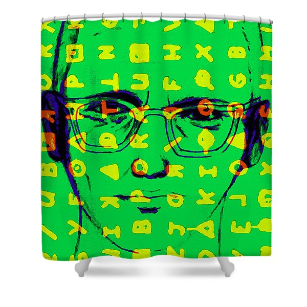 Zodiac Killer With Code and SIgn 20130213 Shower Curtain by Wingsdomain Art and Photography