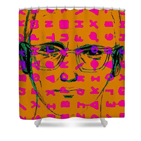 Zodiac Killer With Code and SIgn 20130213m80 Shower Curtain by Wingsdomain Art and Photography