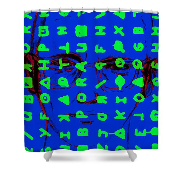 Zodiac Killer With Code and SIgn 20130213p98 Shower Curtain by Wingsdomain Art and Photography