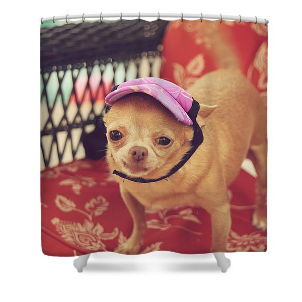 Zoe's Visor Shower Curtain by Laurie Search