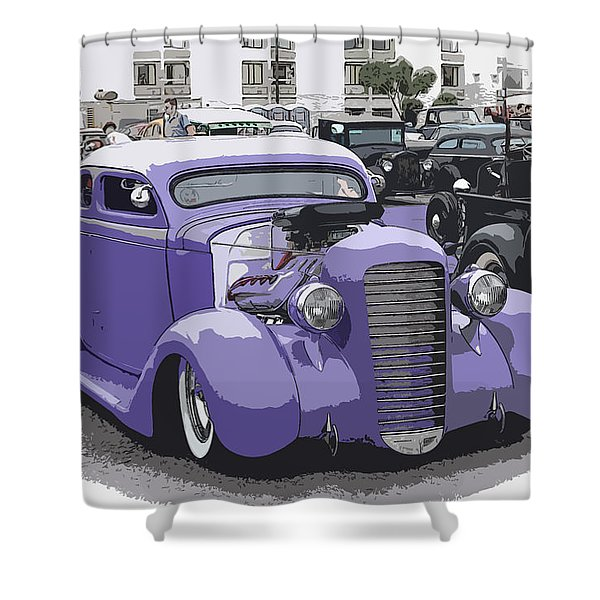 Hot Rod Purple Shower Curtain by Steve McKinzie