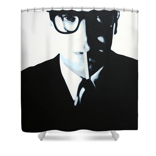 - Palmer - Shower Curtain by Luis Ludzska