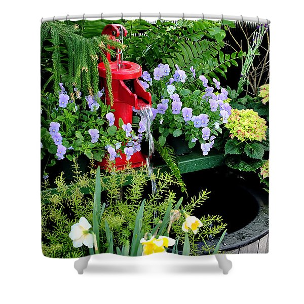 0021 Botanical Gardens Buffalo Ny Series Gardens Shower Curtain by Michael Frank Jr