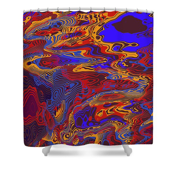 0696 Abstract Thought Shower Curtain by Chowdary V Arikatla