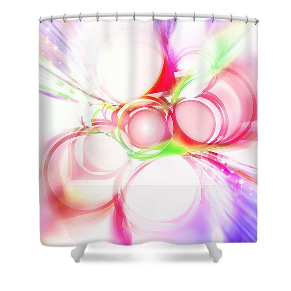 Abstract Of Circle Shower Curtain by Setsiri Silapasuwanchai