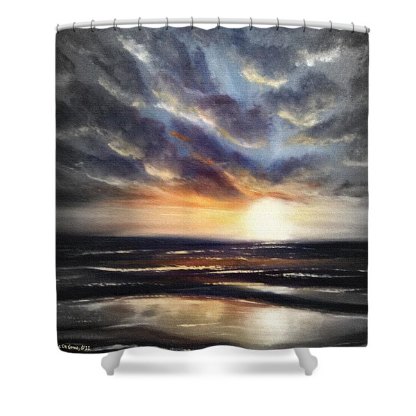 Shower Curtains - Another Sunset in Paradise 77 Shower Curtain by Gina De Gorna
