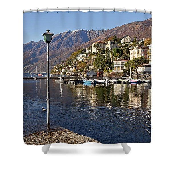 Ascona - Lake Maggiore Shower Curtain by Joana Kruse
