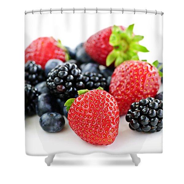 Assorted Fresh Berries Shower Curtain by Elena Elisseeva