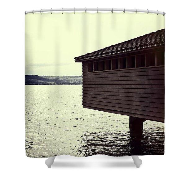 Bath House Shower Curtain by Joana Kruse