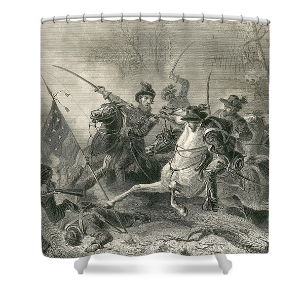 Battle Of Shiloh, Charge Of General Shower Curtain by Photo Researchers