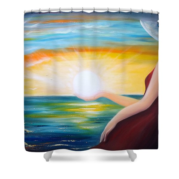 Shower Curtains - Carpe Diem Shower Curtain by Gina De Gorna