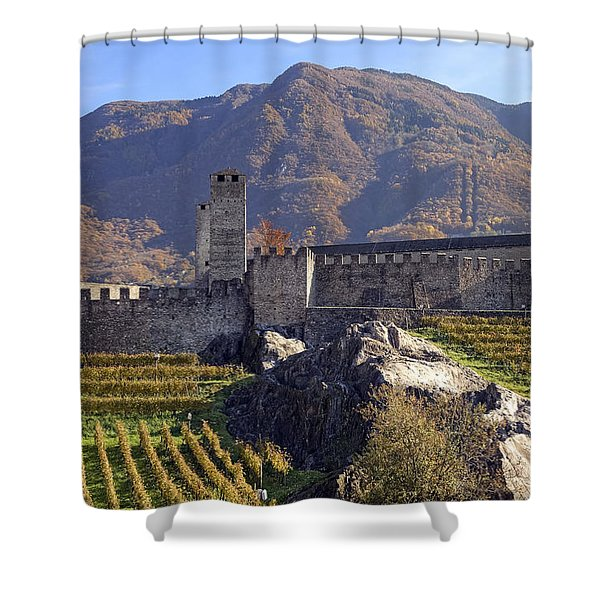 Castelgrande - Bellinzona Shower Curtain by Joana Kruse