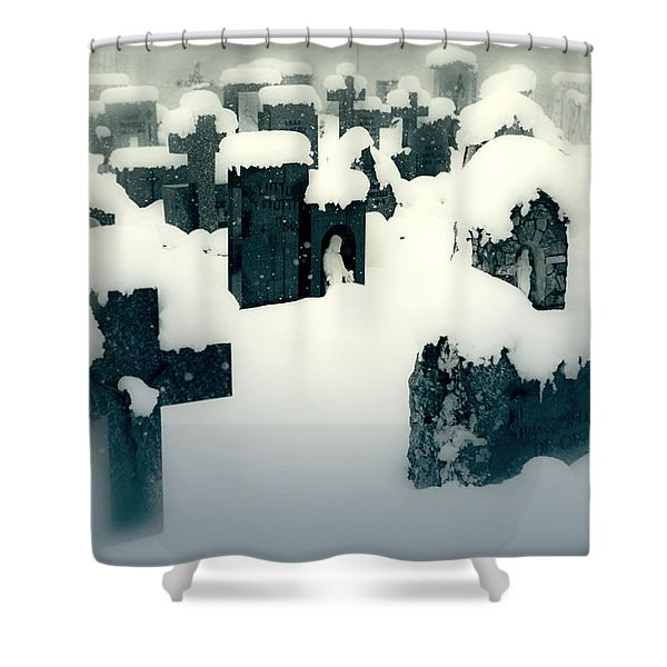 cemetery Shower Curtain by Joana Kruse