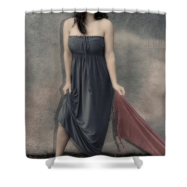 Concrete Velvet 3 Shower Curtain by Donna Blackhall