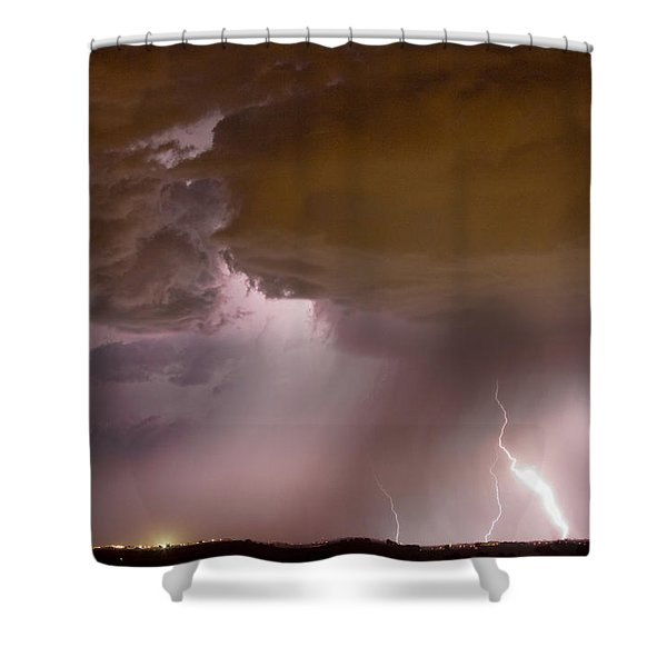 Energy Shower Curtain by James BO  Insogna