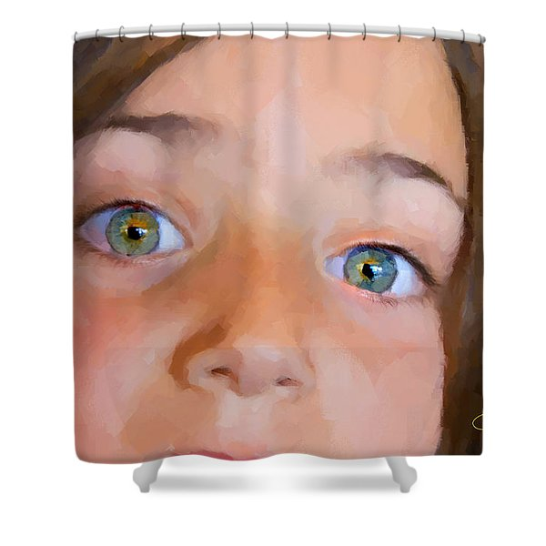 Eyes Have It Shower Curtain by Chuck Staley