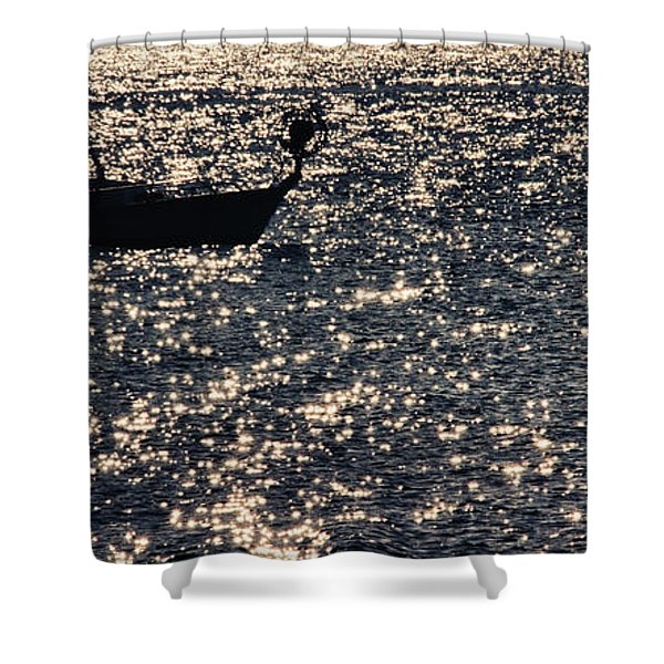Fisherman Shower Curtain by Stylianos Kleanthous
