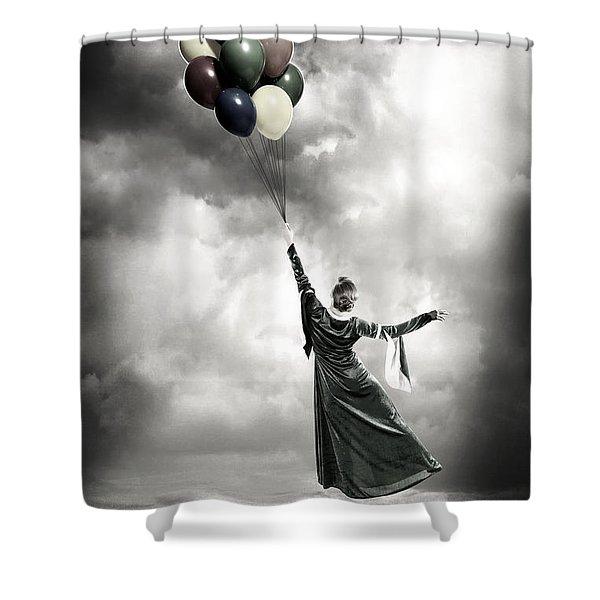 floating Shower Curtain by Joana Kruse