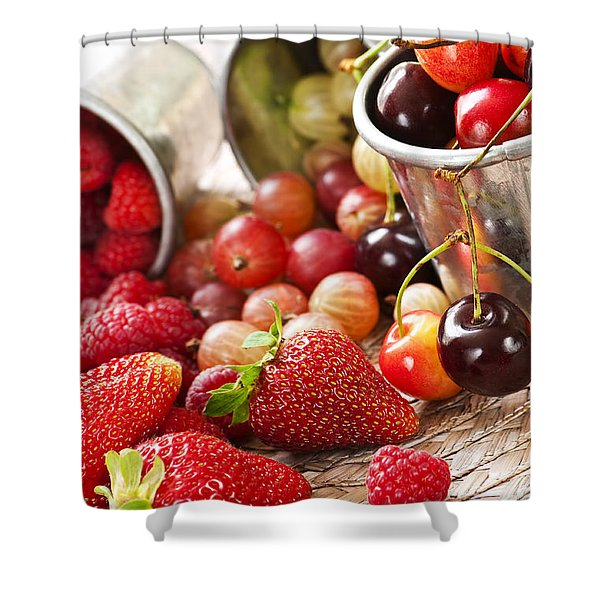 Fruits and berries Shower Curtain by Elena Elisseeva