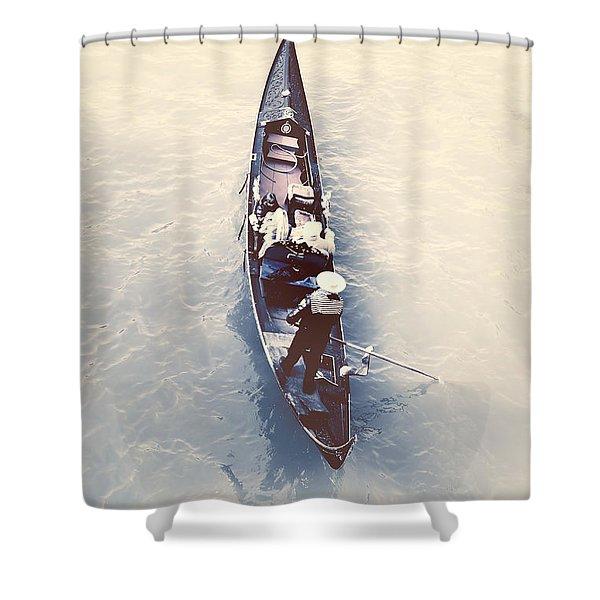 gondola - Venice Shower Curtain by Joana Kruse