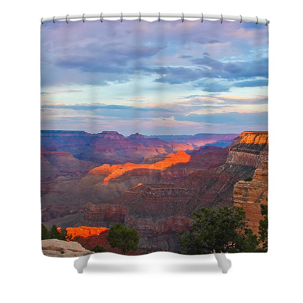 Grand Canyon Grand Sky Shower Curtain by Heidi Smith