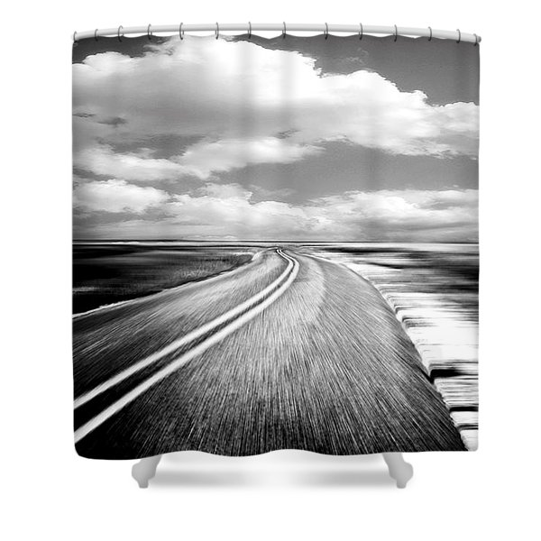 Highway Run Shower Curtain by Scott Pellegrin