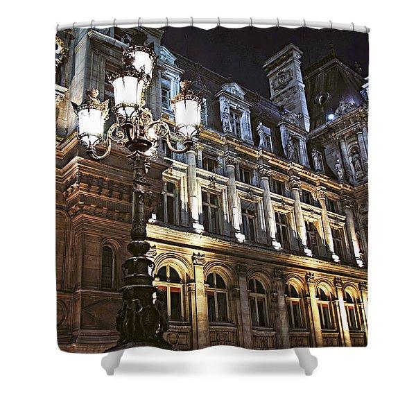 Hotel De Ville In Paris Shower Curtain by Elena Elisseeva