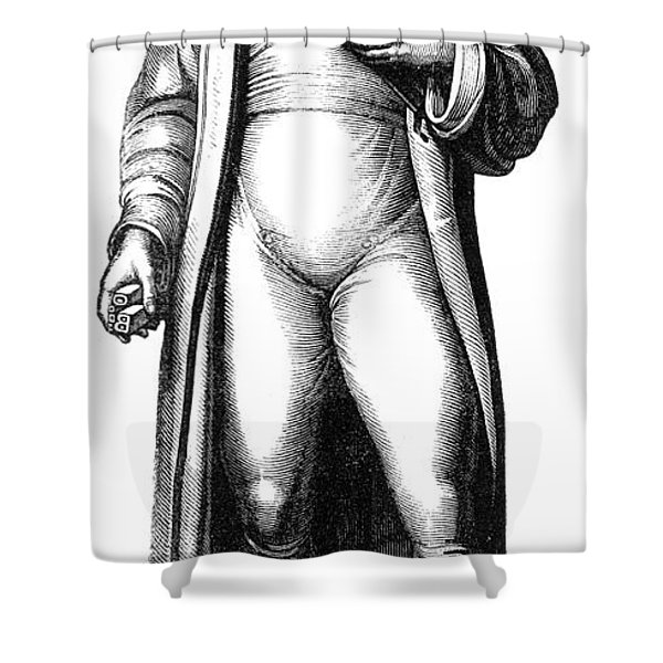 Johannes Gutenberg, German Inventor Shower Curtain by Photo Researchers