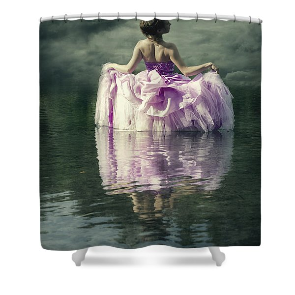 Lady In The Lake Shower Curtain by Joana Kruse
