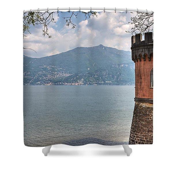 Lago di Como Shower Curtain by Joana Kruse
