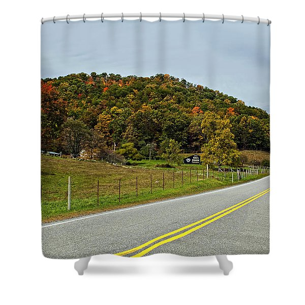 Let It Roll Shower Curtain by Steve Harrington