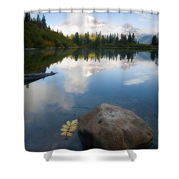 Majesty Hidden Shower Curtain by Mike  Dawson