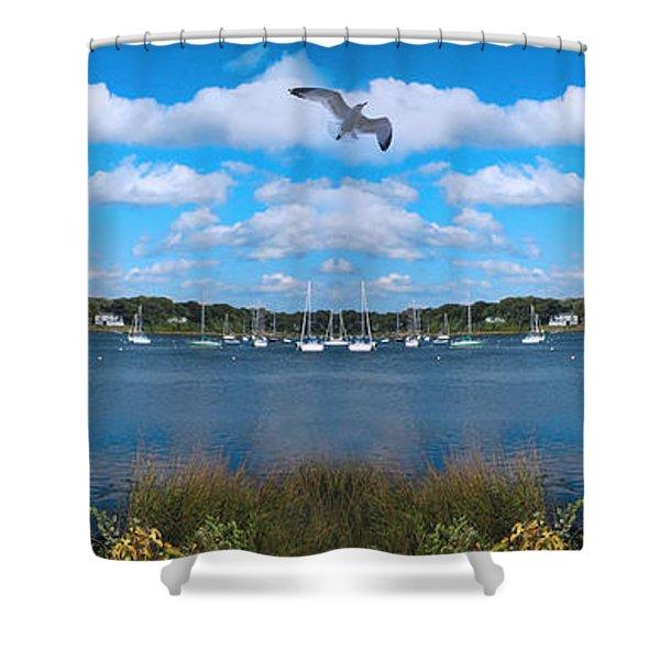 Marina Shower Curtain by Lourry Legarde