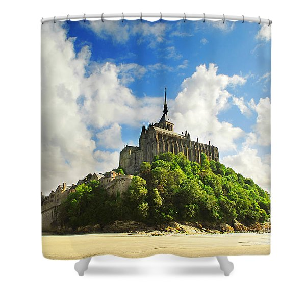 Mont Saint Michel Shower Curtain by Elena Elisseeva
