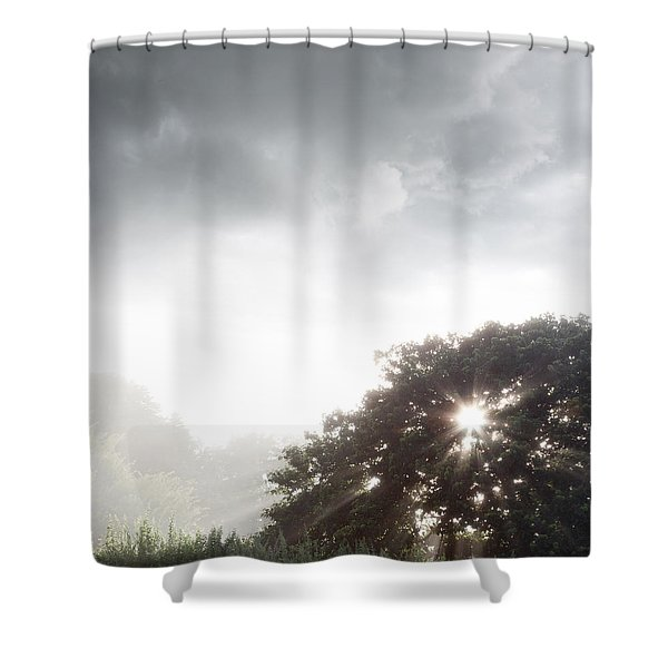 Morning Sunlight Shower Curtain by Les Cunliffe