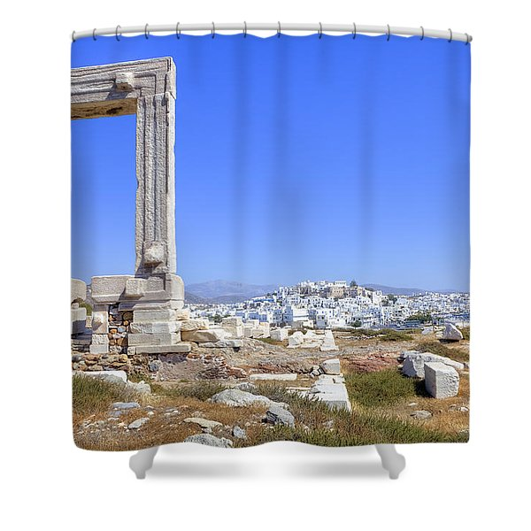 Naxos - Cyclades - Greece Shower Curtain by Joana Kruse