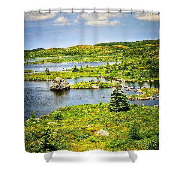 Newfoundland landscape Shower Curtain by Elena Elisseeva