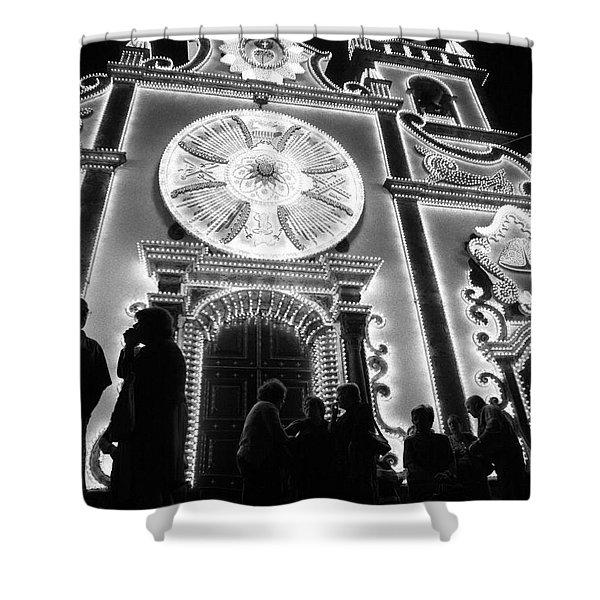 Nighttime Religious Celebrations Shower Curtain by Gaspar Avila