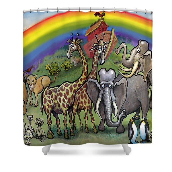 Noah's Ark Shower Curtain by Kevin Middleton