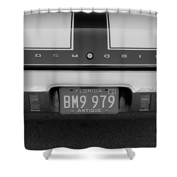 Olds Cs In Black And White Shower Curtain by Rob Hans