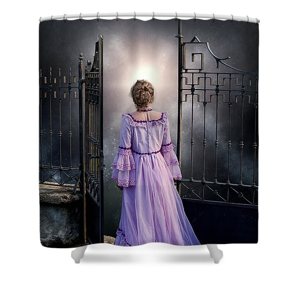 open gate Shower Curtain by Joana Kruse